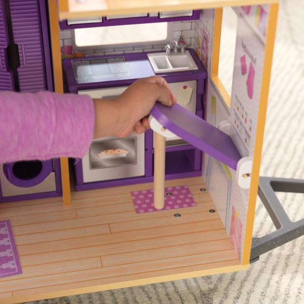 Detalle mesa plegable de la casa de muñecas kidkraft 65948 teeny house width=