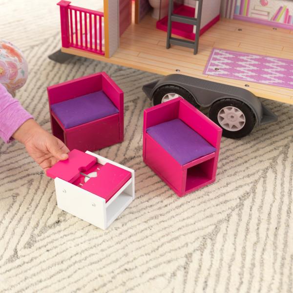 Detalle de muebles de la casa de muñecas kidkraft 65948 teeny house width=