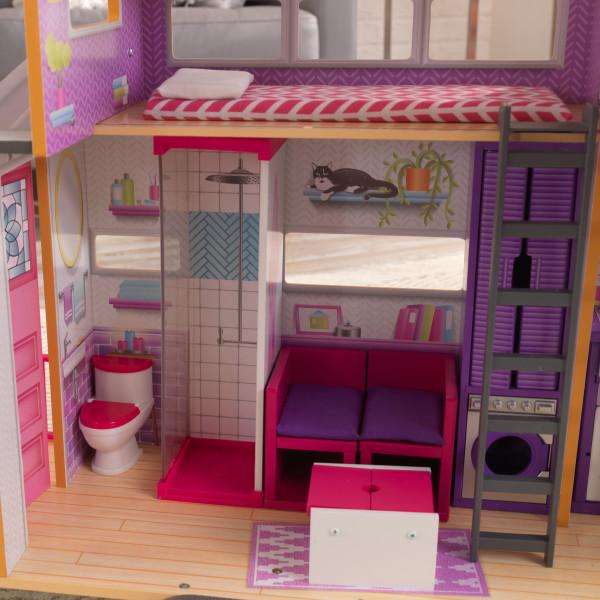 Detalle baño de la casa de muñecas kidkraft 65948 teeny house width=