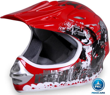 Casco Cross X-Treme color Rojo