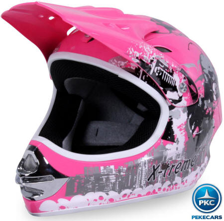 Casco Cross X-Treme color Rosa