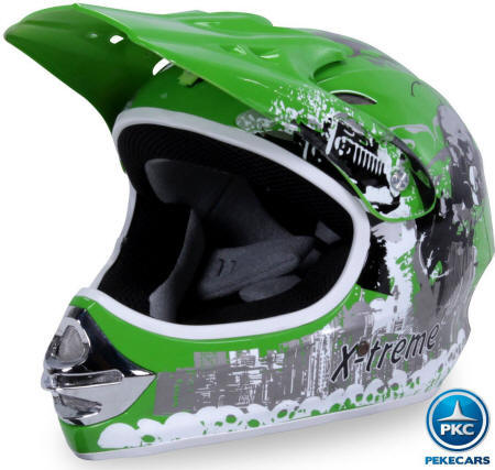 Casco Cross X-Treme color Verde