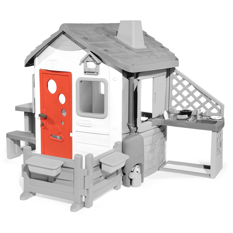 puerta roja casita infantil width=
