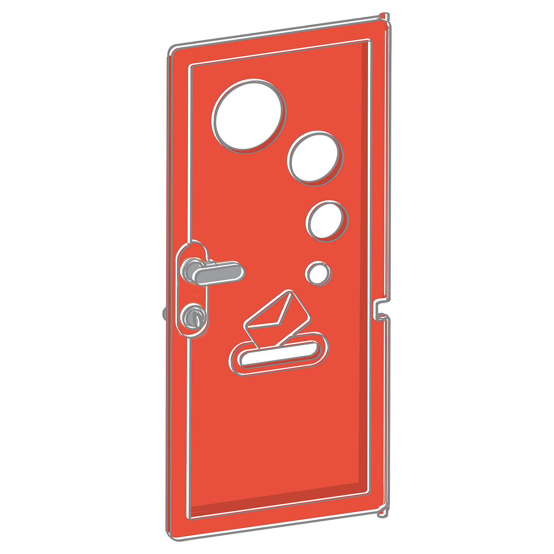 puerta con llave casita de niñas width=