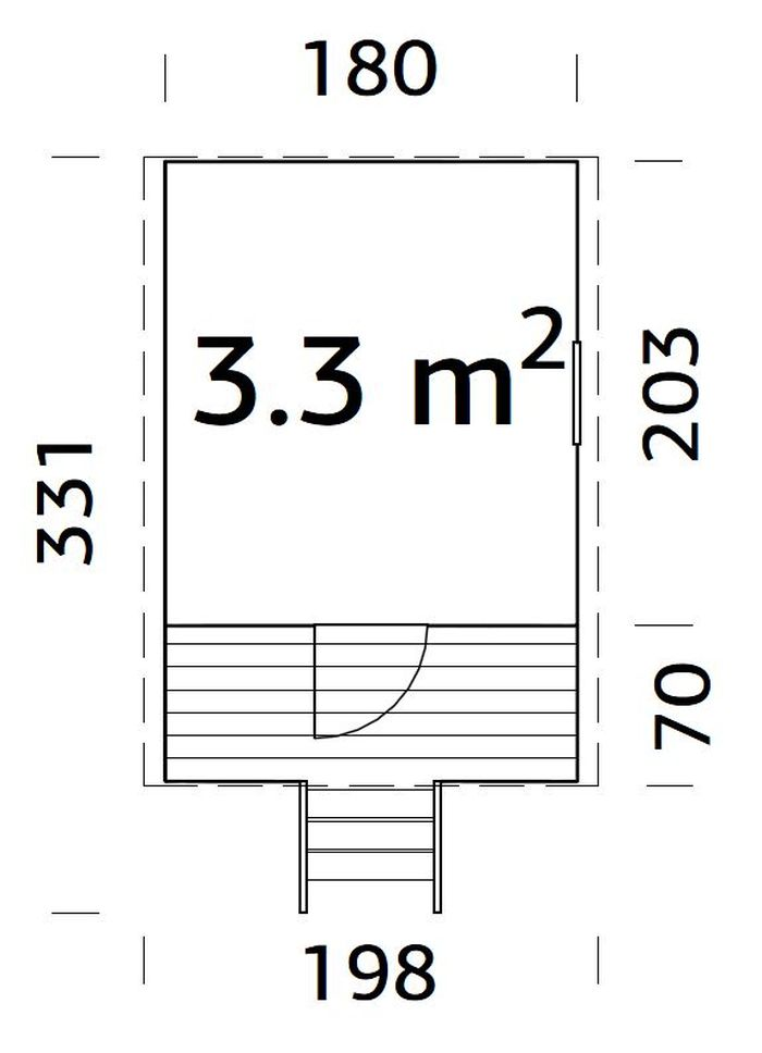 Casita de madera Huck - vista casita