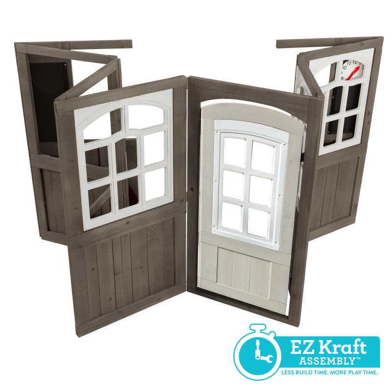 Casita de madera para exterior de niños coastal cottage