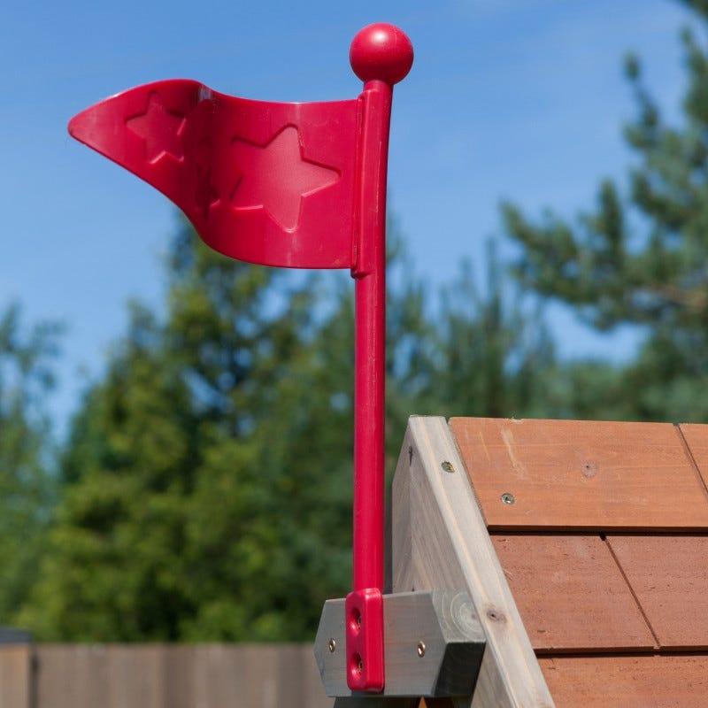 Bandera de casita de madera para exterior de niños greystone cottage - kidkraft
