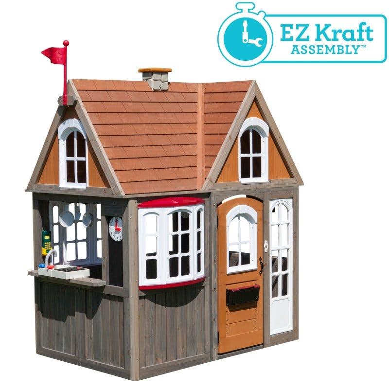 Casita de madera greystone cottage facil motaje - kidkraft
