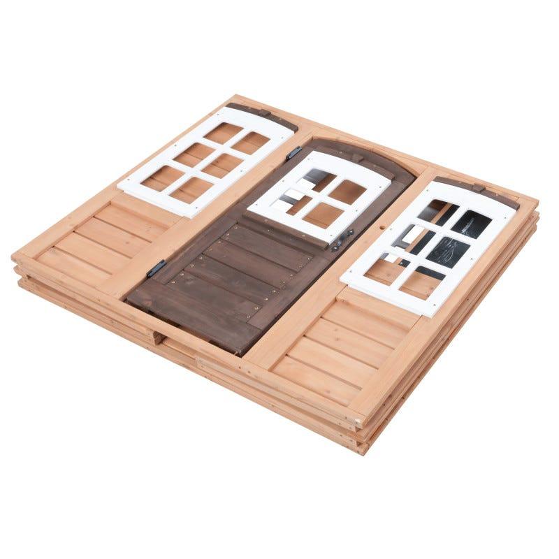 Casita de madera para exterior de niños fairmeadow - kidkraft width=