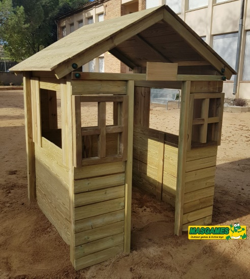 Casa de madera School - vista frontal
