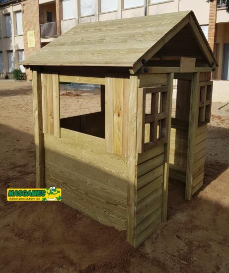 Casa de madera School -vista lateral
