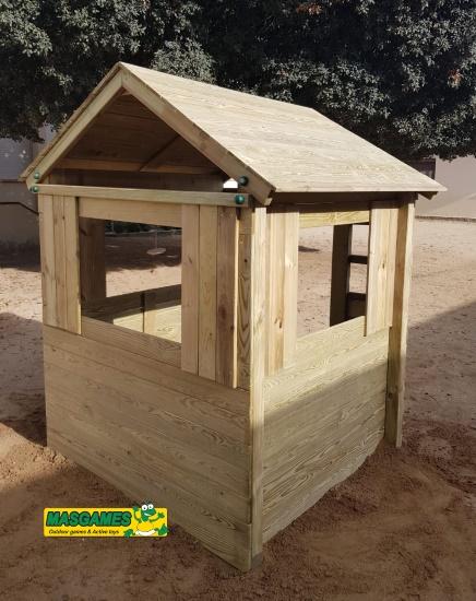 Casa de madera School - vista trasera