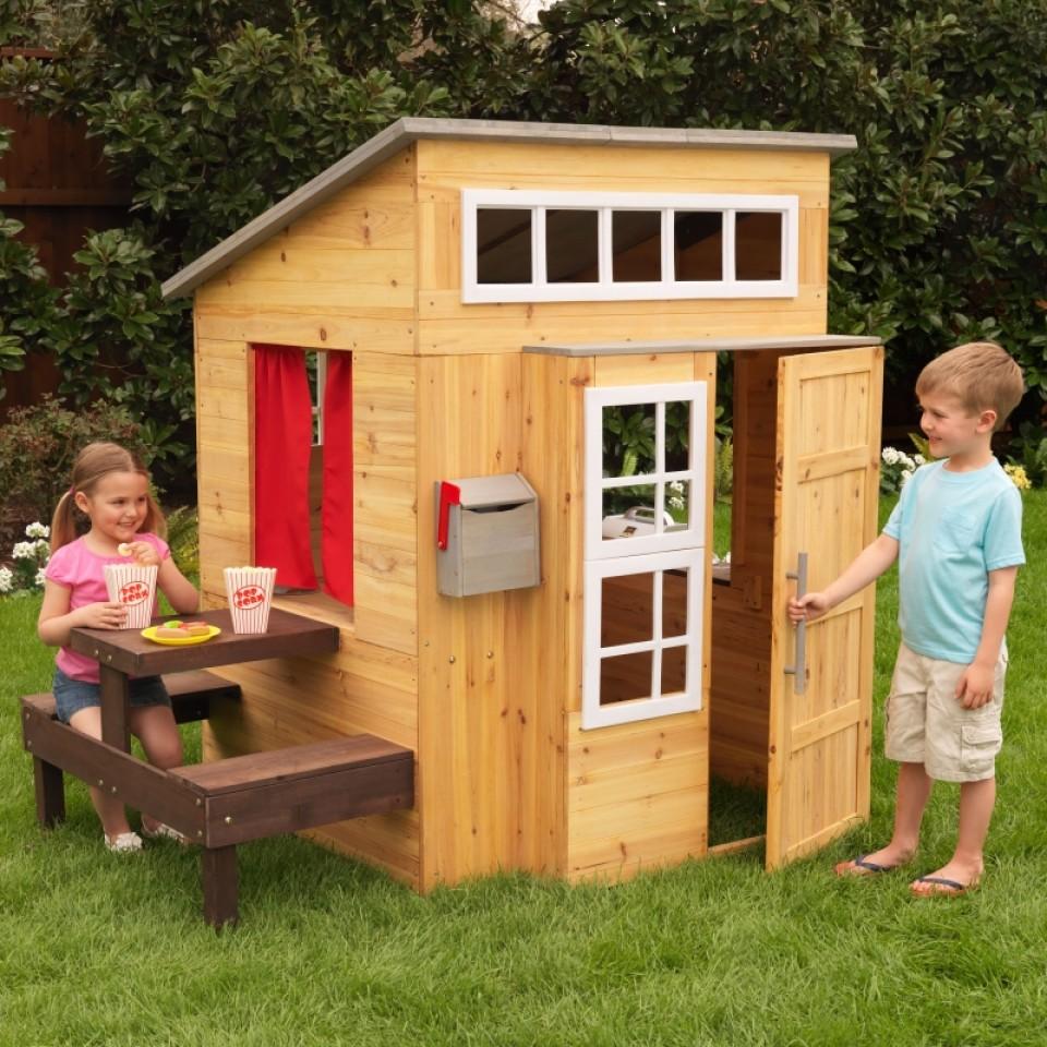 kidkraft casa moderna de madera para exteriores vista principal