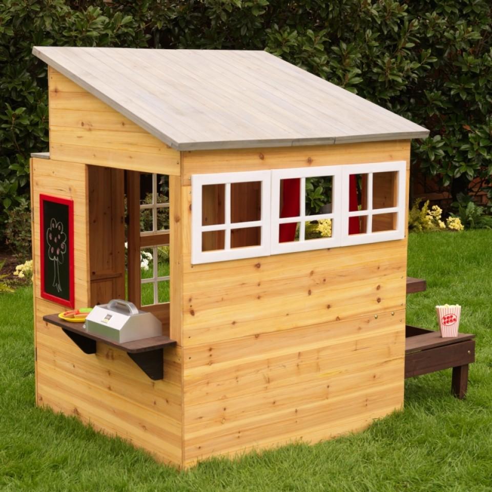 Kidkraft casa moderna de madera para exteriores 00182 - Madera para exteriores ...