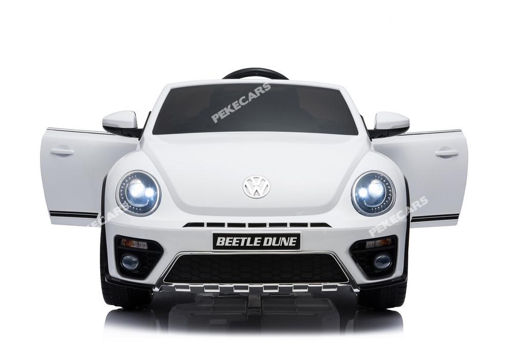 Vista frontal coche ninos Volkswagen del Beatle Dune con apertura de puertas