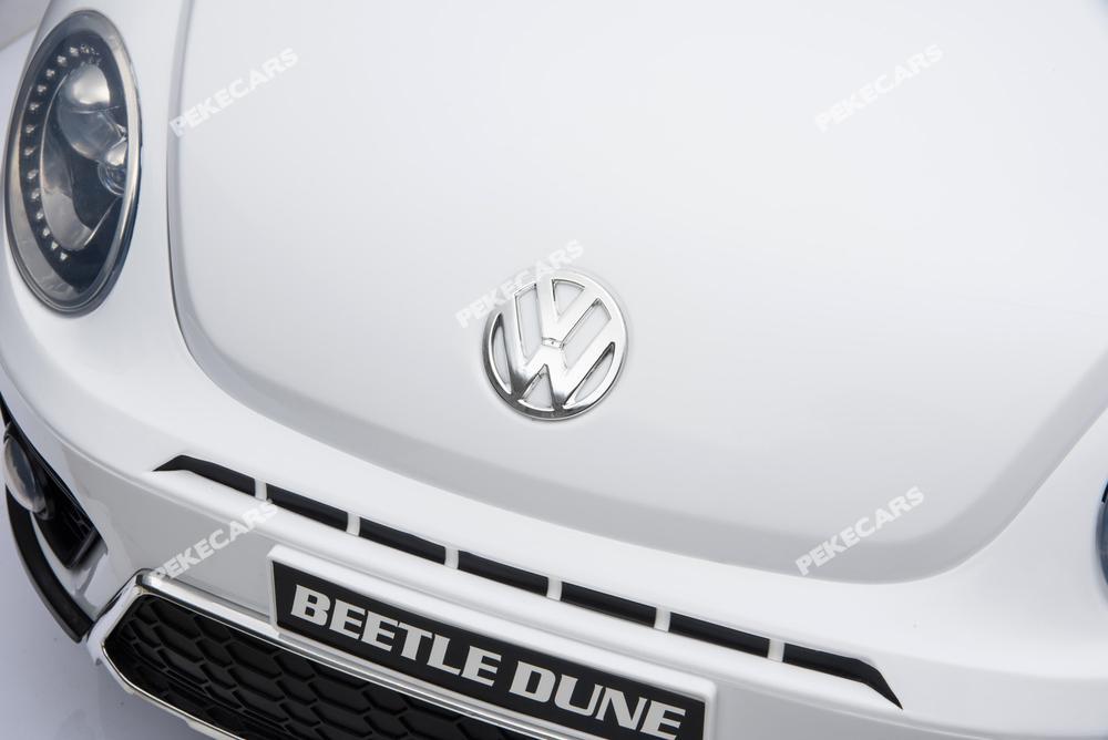 Vista logo marca Volkswagen del Beatle Dune para ninos