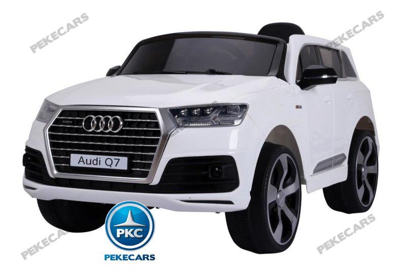 Coche electrico para niños Audi Q7 S-Line Blanco vista principal