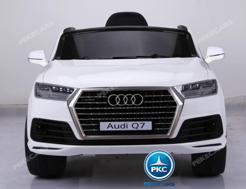Coche electrico para niños Audi Q7 S-Line Blanco vista frontal