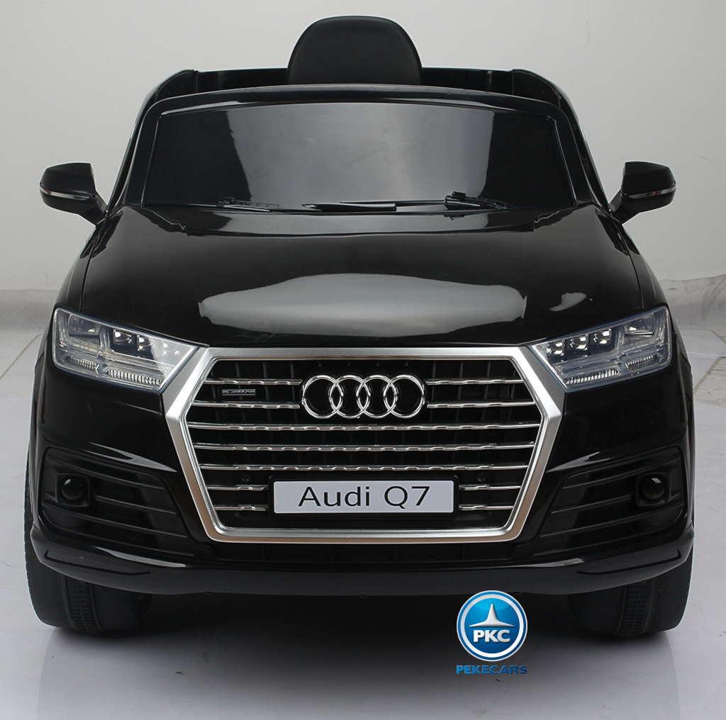 Coche electrico para niños Audi Q7 S-Line Negro vista frontal