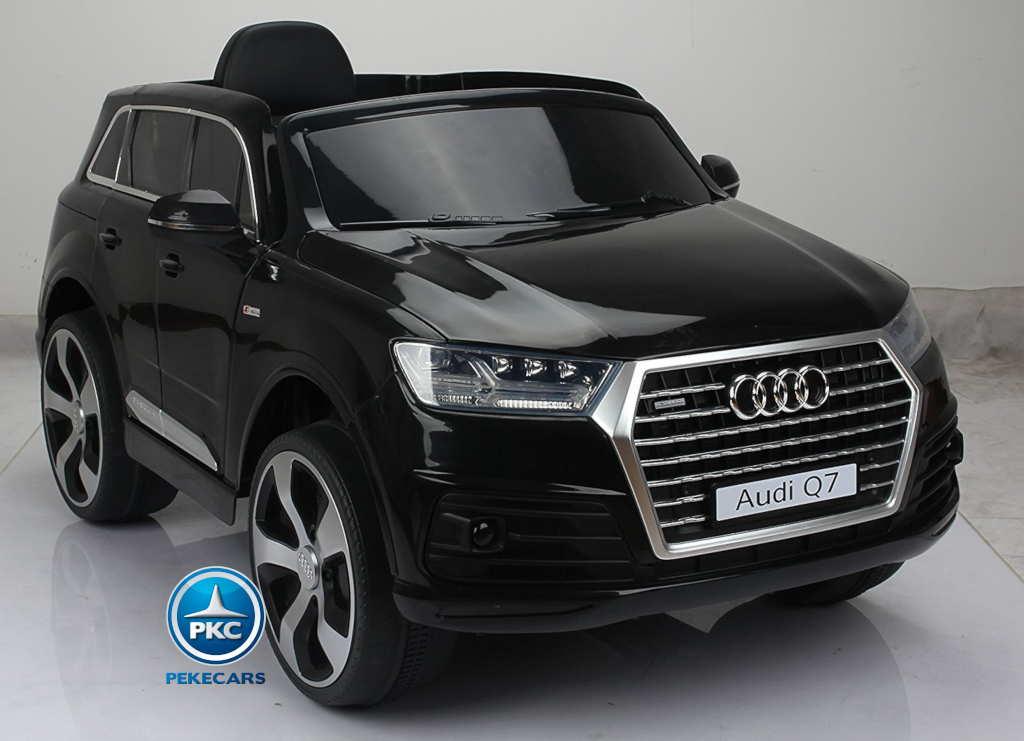 Coche electrico para niños Audi Q7 S-Line Negro