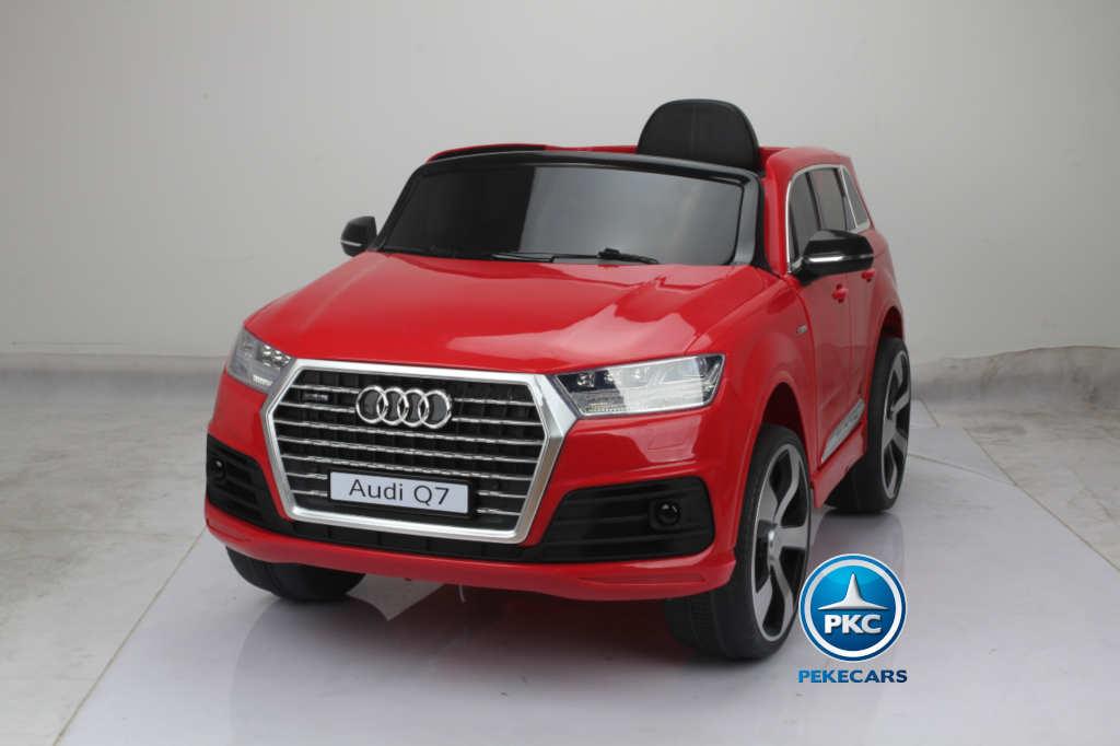 Coche electrico para niños Audi Q7 S-Line Rojo vista principal
