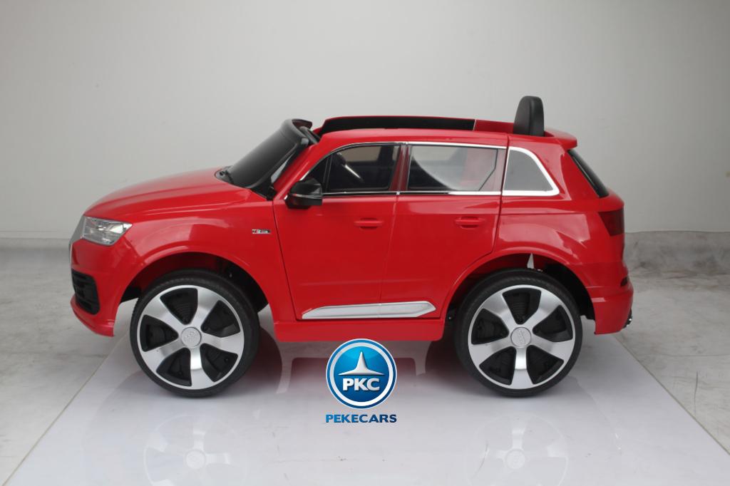 Coche electrico para niños Audi Q7 S-Line Rojo