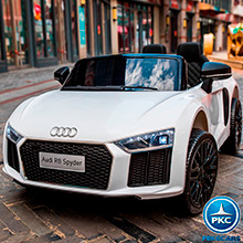 AUDI LITTLE R8 SPYDER BLANCO FRONTAL