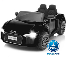 AUDI LITTLE R8 SPYDER NEGRO FRONTAL