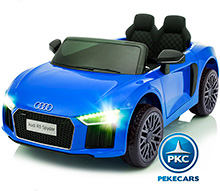 AUDI R8 SPYDER LITTLE AZUL FRONTAL
