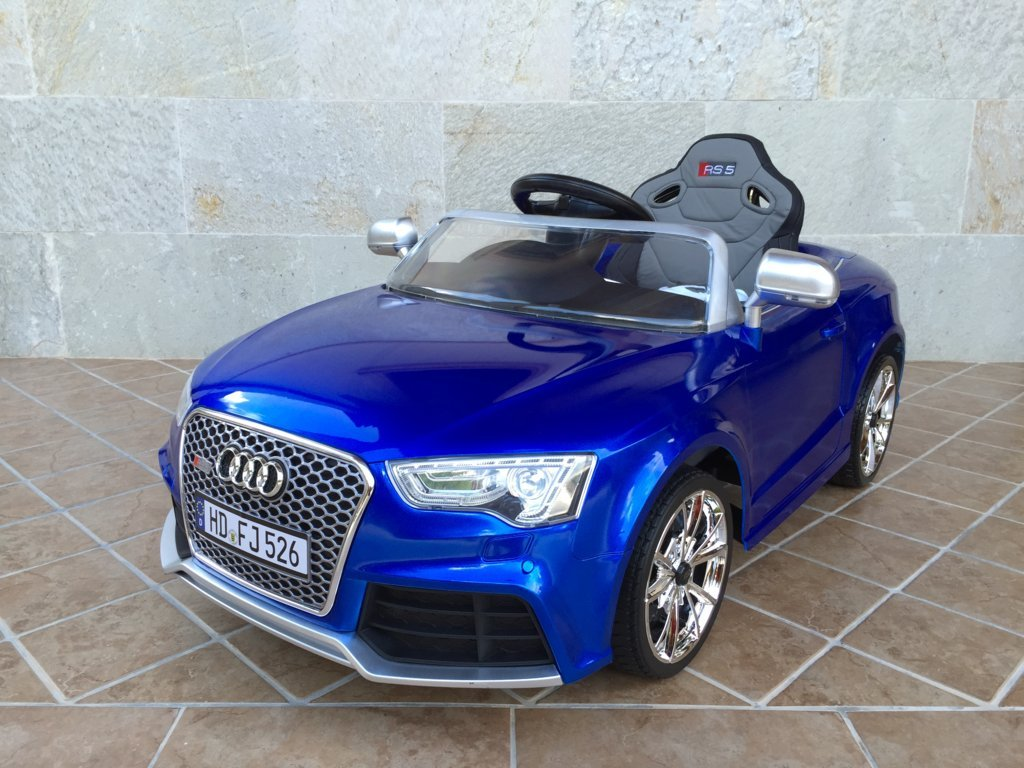 Inforchess - Coche electrico para niños Audi Rs5 Azul