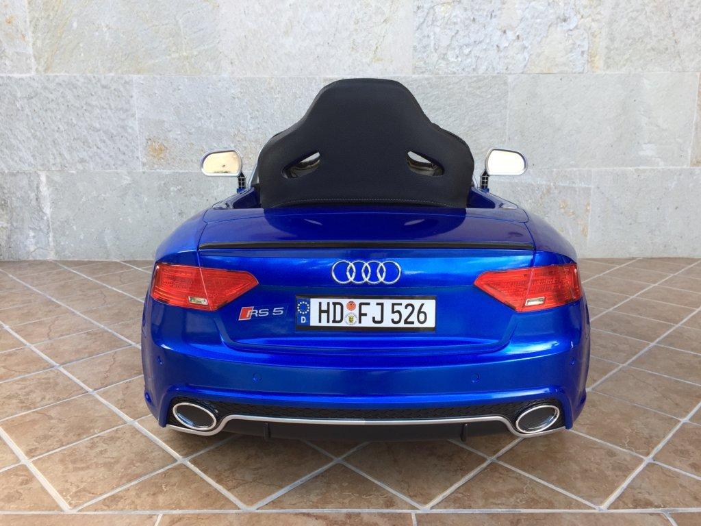 Inforchess - Coche electrico para niños Audi Rs5 Azul 4