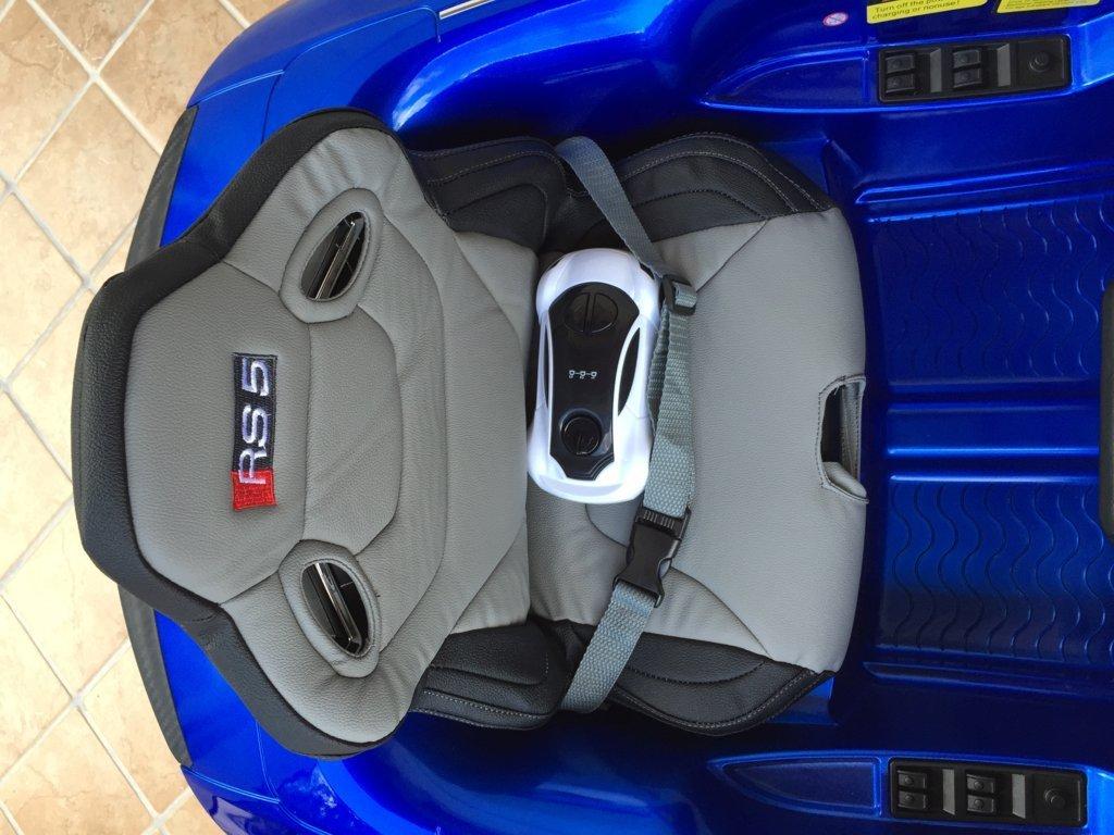 Inforchess - Coche electrico para niños Audi Rs5 Azul asiento