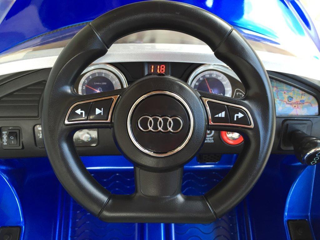 Inforchess - Coche electrico para niños Audi Rs5 Azul volante