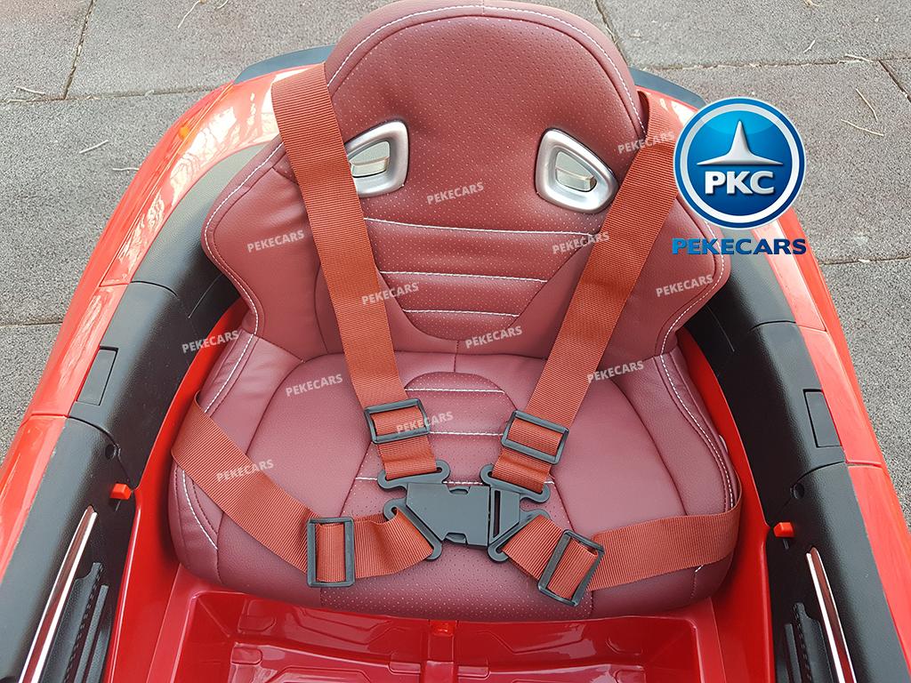 Coche electrico para niños Audi RS5 rojo 12v con capota
