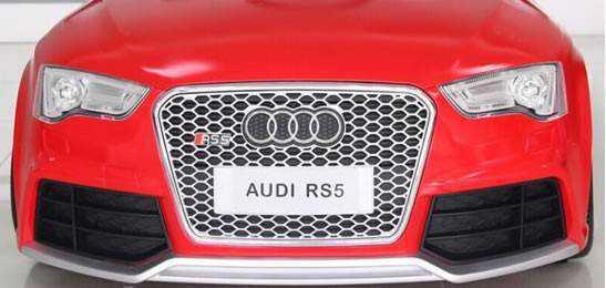 Coche electrico para niños Audi Rs5 Rojo frontal