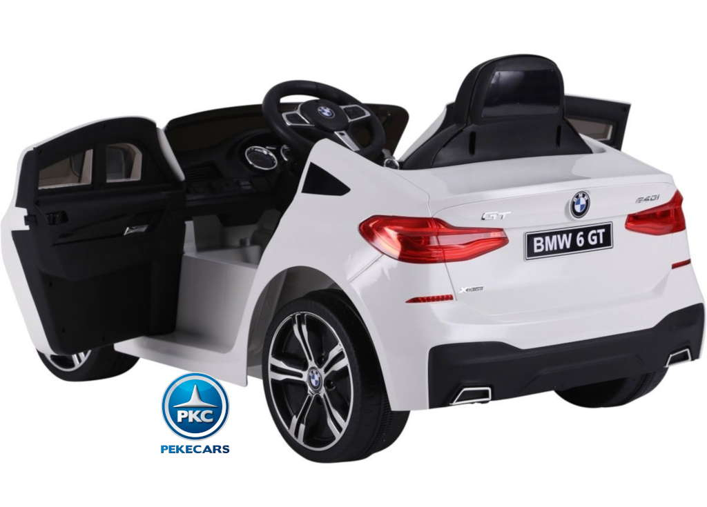 Coche electrico para niños BMW 6GT Blanco