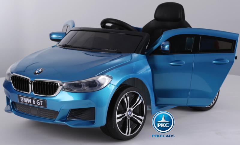 Coche electrico para niños BMW 6GT Azul Metalizado