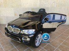 Inforchess - Coche electrico para niños BMW X6 Negro Metalizado