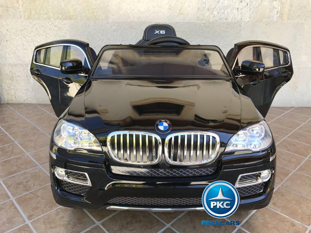Inforchess - Coche electrico para niños BMW X6 Negro Metalizado 16