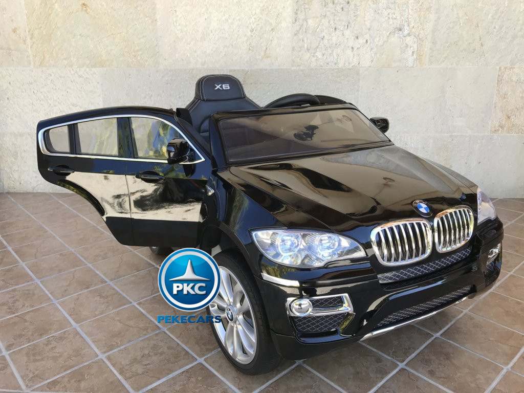 Inforchess - Coche electrico para niños BMW X6 Negro Metalizado 15