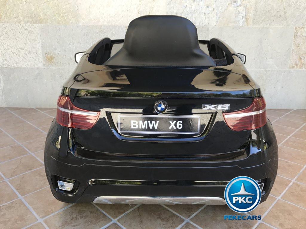 Inforchess - Coche electrico para niños BMW X6 Negro Metalizado 12