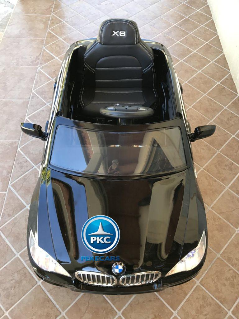 Inforchess - Coche electrico para niños BMW X6 Negro Metalizado 11