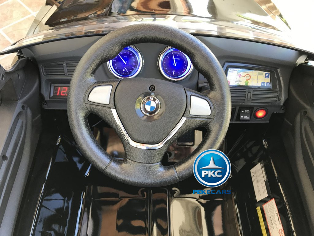 Inforchess - Coche electrico para niños BMW X6 Negro Metalizado 9