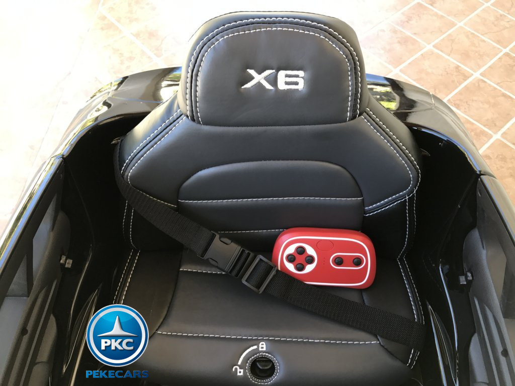 Inforchess - Coche electrico para niños BMW X6 Negro Metalizado 6