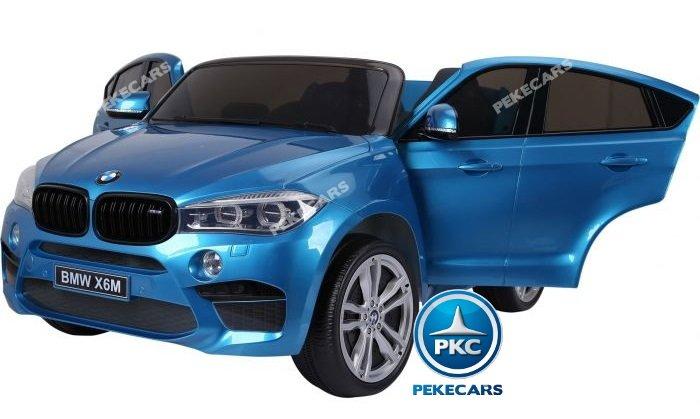 bmw x6 2 plazas 12v 2.4g azul metalizado-000