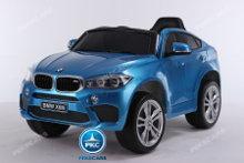 Coche electrico para niños BMW X6M Azul Metalizado vista principal