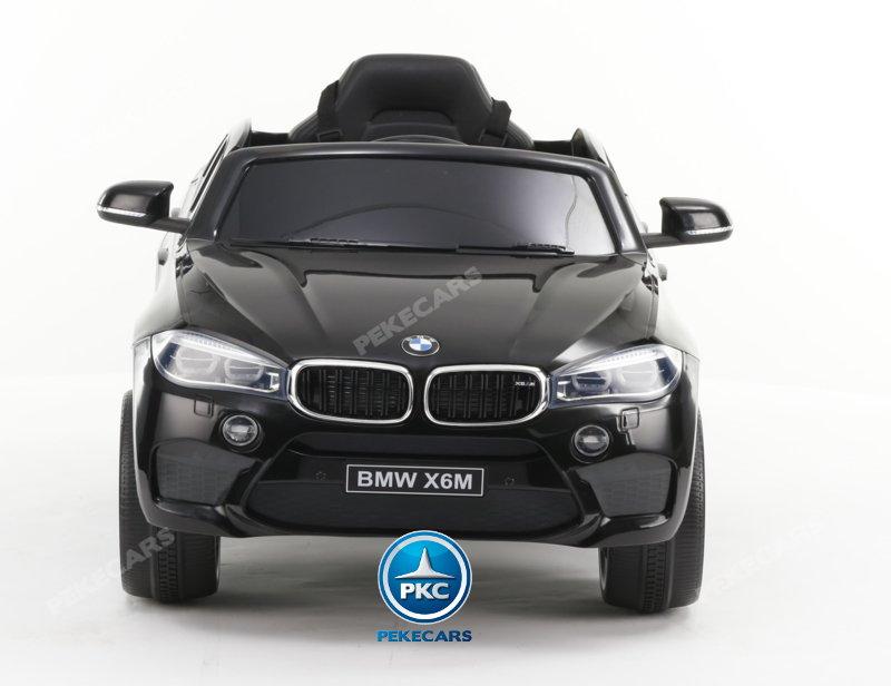 Coche electrico Infantil BMW X6M Negro Metalizado  vista frontal