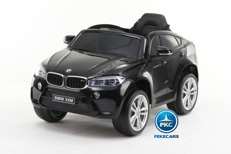 Coche electrico para niños BMW X6M Negro Metalizado con apertura de puertas