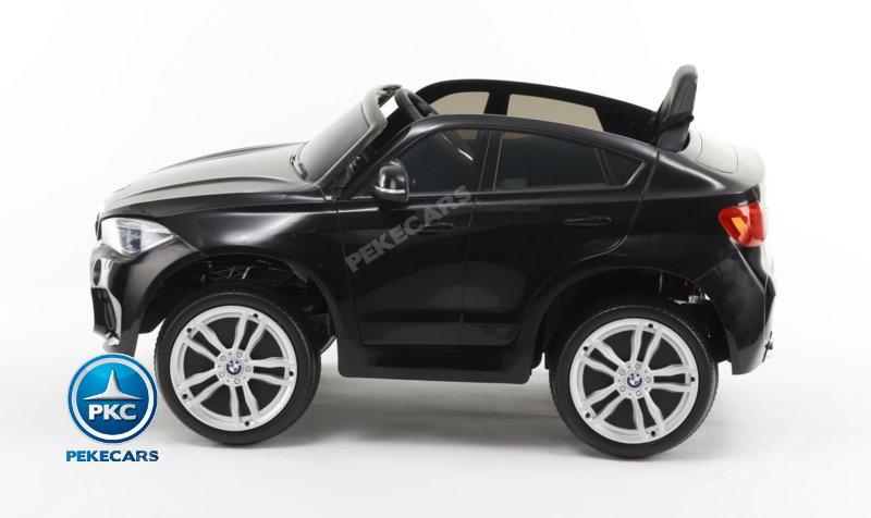 Coche electrico Infantil BMW X6M Negro Metalizado vista de lado