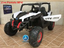 Buggy UTV 12V MP4 Blanco